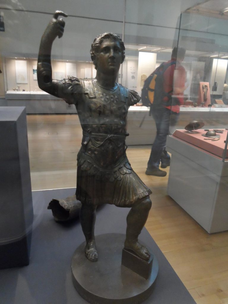 A statue found in England